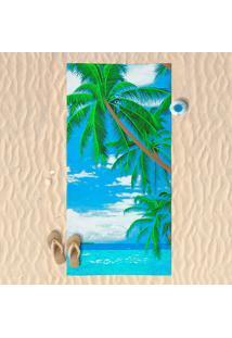 Toalha De Praia Estampada Paraíso - Panosul