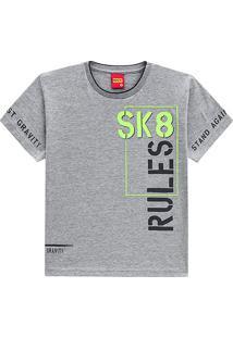 Camiseta Infantil Kyly Rules Sk8 Masculina - Masculino