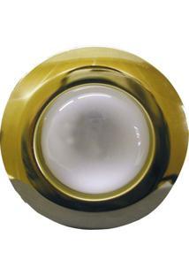 Spot Embutido Fixo E-27 60W Com Lâmpada Refletora 127V - Dourado