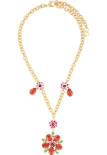 Dolce & Gabbana Colar Com Aplicação - Dourado