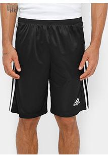 Short Adidas D2M 3S Masculino - Masculino-Preto