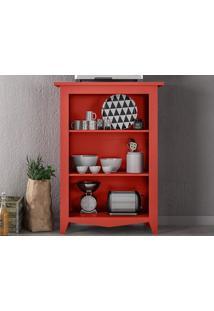 Estante Com Prateleiras Classic Vermelho - Líder Design