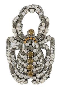 Rochas Broche De Escaravelho Com Aplicações - Cinza