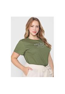 Camiseta Colcci Faça Valer A Pena Verde