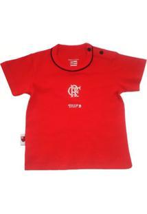 Camiseta Manga Curta Reve D'Or Sport Bicolor Flamengo Vermelha