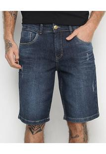 Bermuda Jeans Tks Estonada Puídos Masculina - Masculino