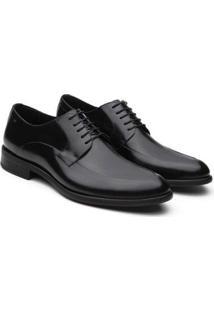 Sapato Social Enrico Boaretto Couro Bico Fino Masculino - Masculino-Preto