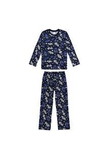 Pijama Infantil Bebê Inverno Estampa Dinos Malwee Kids