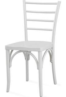 Cadeira Moderna Para Sala De Jantar - Laca Branca - Charlotte - 40,5X49X88 Cm