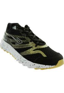 Tenis Running Preto C Amarelo Box 54884025