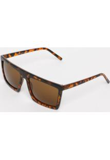 fe2755835 Óculos De Sol Quadrado- Marrom Escuro & Laranjales Bains Paris