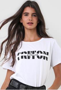 Camiseta Triton Mã©Xico Branca - Branco - Feminino - Algodã£O - Dafiti