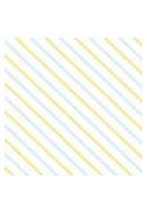 Papel De Parede Adesivo Listrado Azul E Amarelo 2,70X0,57M