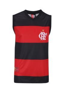 Camiseta Regata Do Flamengo Hoop - Masculina - Preto/Vermelho