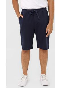 Bermuda Colcci Reta Textura Azul-Marinho - Azul Marinho - Masculino - Algodã£O - Dafiti