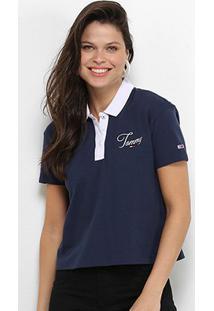 Camisa Polo Tommy Jeans Feminina - Feminino-Marinho