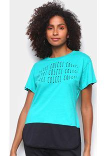Camiseta Colcci Eye Feminina - Feminino-Verde Claro+Verde