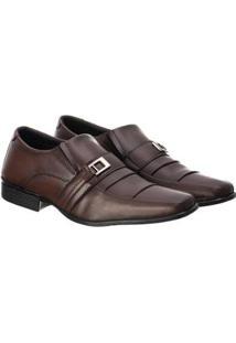 Sapato Social Masculino Confortável Macio Leve Clássico - Masculino-Café