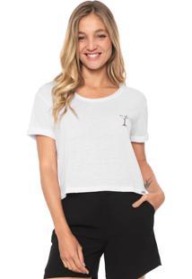 Camiseta Dzarm Estampada Branca