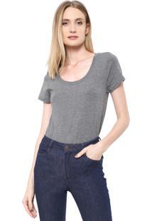 Camiseta Dudalina Lisa Cinza