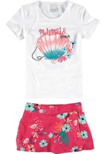 Conjunto Infantil Malwee Mermaid Feminina - Feminino