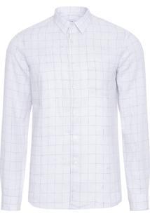 Camisa Masculina Linho London - Off White