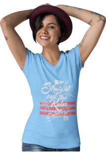 Camiseta Ezok Gola V Caution Sk8R Azul Claro