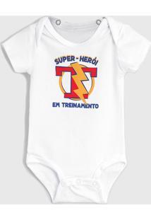 Body Tigor T. Tigre Infantil Herói Branco