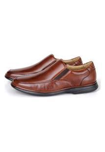 Sapato Massage De Calçar Em Couro Bronze Savelli
