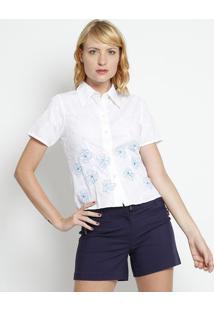 095e428184 Camisa Bordada - Branca   Azul - Silk Lordsilk Lord