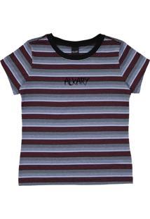 Camiseta Baby Look Listrada Marsala