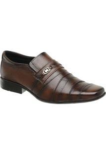 Sapato Torani Social Couro Masculino - Masculino-Marrom