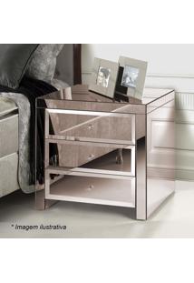 Criado Mudo Essence Bisotê- Espelhado & Bronze- 70X6Rg Móveis