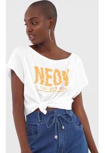 Camiseta My Favorite Thing(S) Neon Branca