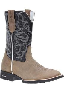 Bota Couro Country Cow Way Masculina - Masculino-Bege
