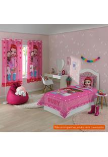 Jogo De Cama Infantil Com 2 Peças Rainbow Ruby Ii Algodão Rosa