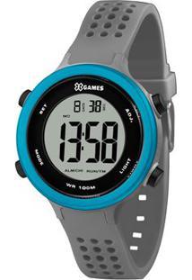Relógio Digital Quartz Xkppd069Bxgx- Cinza & Azul-X-Orient