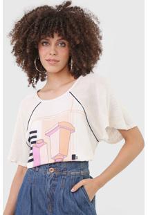 Camiseta Forum Estampada Bege