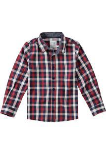 Camisa Flanela Xadrez Menino Malwee Kids