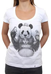 Punk Panda - Camiseta Clássica Feminina