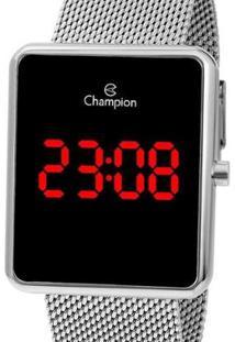 Relógio Champion Digital Ch40080T Feminino - Feminino-Prata