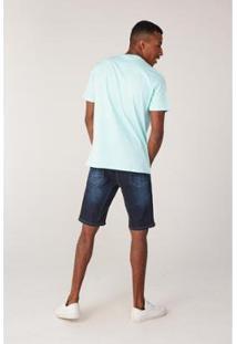 Bermuda Onbongo Jeans Slim Confort Fit Masculino - Masculino-Azul