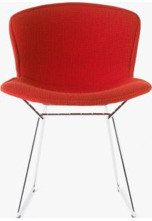 Cadeira Bertoia Revestida - Estrutura Preta Tecido Sintético Amarelo Dt 0102299194