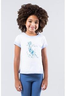 Camiseta Infantil Pica-Pau Arara Reserva Mini Feminina - Feminino-Cinza Claro