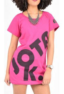 Camiseta Jota K Dark Pink
