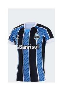 Camisa Umbro Grêmio 2020 I Infantil Azul