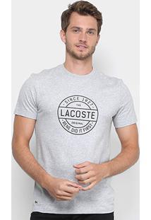 10302843408 Camiseta Lacoste Estampada Masculina - Masculino-Mescla