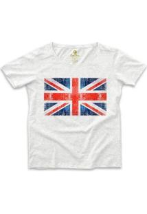 Camiseta Cool Tees Ampla Viagem Feminina - Feminino-Mescla Claro
