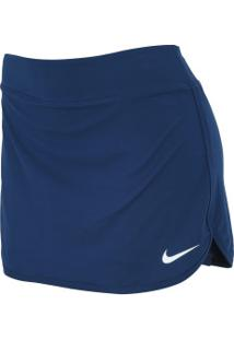 Short Saia Nike Pure - Feminino - Azul Esc/Branco