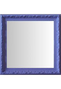 Espelho Moldura Rococó Raso 16409 Lilás Art Shop